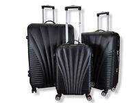 Rocklands Lightweight 4 Wheel ABS Hard Shell Luggage Set (including 3 suitcases)