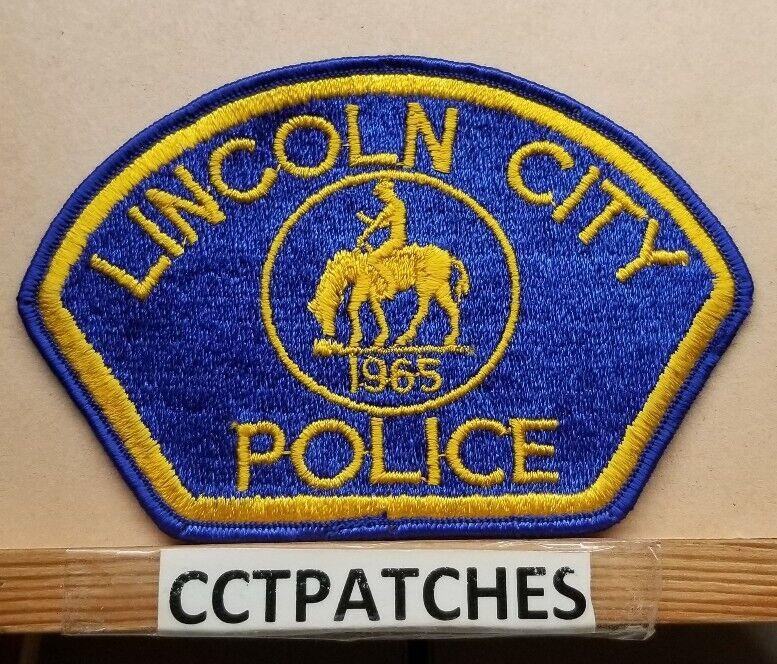 LINCOLN CITY, OREGON POLICE SHOULDER PATCH OR