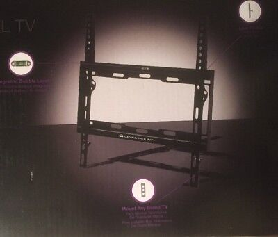 "TV Wall Mount Level Fixed Flat Panel 32"" To 55"" w/ Bubble Level & Hardware -"