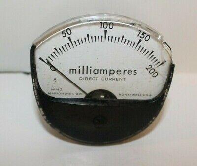 Vintage Honeywell Mm2 Milliamperes Direct Current Panel Meter