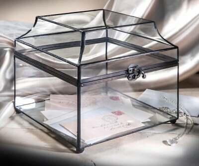 Wedding Card Box Clear Glass Display Box Large Decorative Box Keepsake Wedding