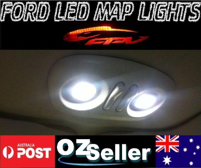 Ford Map Lights Upgrade 2x ULTRA WHITE LED Falcon XT AU BA BF FG G6 XR6 XR8 FPV