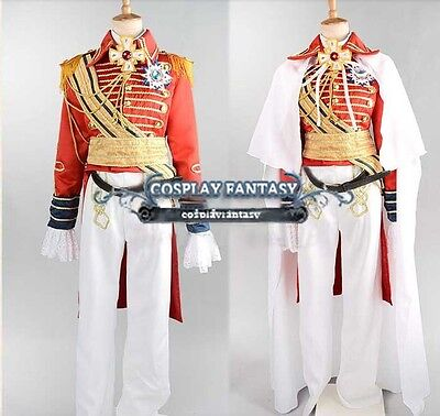 The Rose of Versailles Cosplay Lady Oscar Costume Military Uniform Vintage Drama (Oscar Costume)