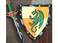 Lego shield and sword