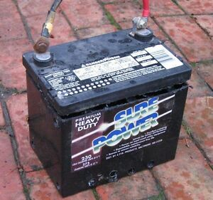Old car batteries