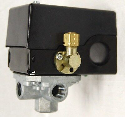 Air Compressor Pressure Switch W Unloader Valve 4-port 95 Psi On 125 Psi Off