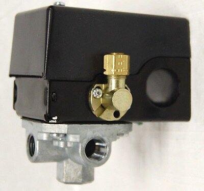 Air Compressor Pressure Switch W Unloader Valve 4-port 95 Psi On 125 Psi Off