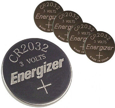 **FRESHLY NEW** 5x Energizer CR2032 Lithium Battery 3V Coin Cell Exp 2024
