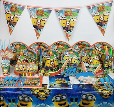 e 2 Birthday Party Supplies Set Range Napkin Plate Cup     (Minions Party Supplies)