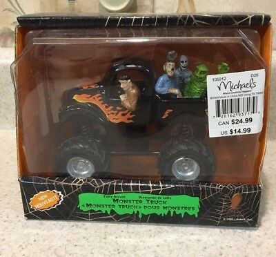 Lemax 93717 MONSTER TRUCK Spooky Town Table Accent Halloween Decor O G Retired ()