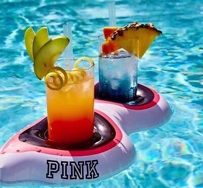 NIP Victoria's Secret PINK Floating Inflatable Koozie Sunglasses Cup Holder Lmtd - Floating Koozie