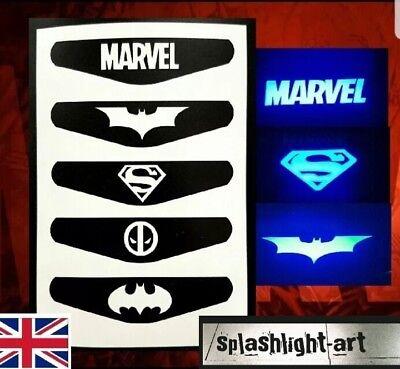 PS4 Controller Light bar VINYL Sticker 5x Marvel Batman Superman Deadpool decal (Ps4 Controller Light Bar Superman)