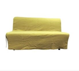 Lycksele sofabed cover in yellow