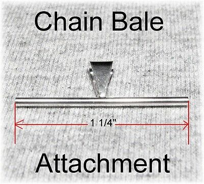 NEW 925 Silver Pendant Chain Bale Attachment Converter for Ur Brooch Pin 1 1/4""