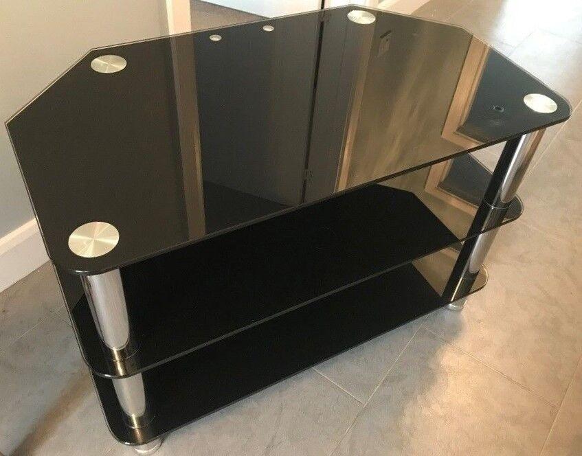 Black Three Tier Glass Tv Stand In Wollaton Nottinghamshire Gumtree