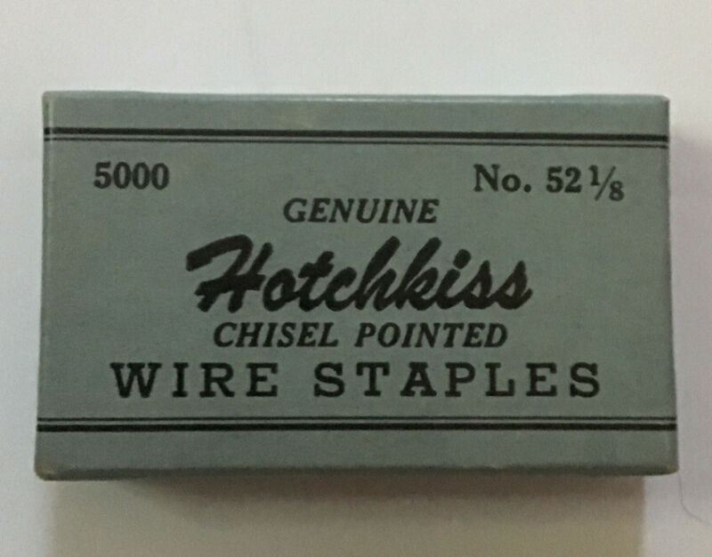 New Old Stock Vintage Rare Hotchkiss Wire Staples