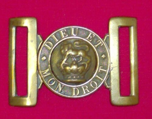 Victorian military buckle