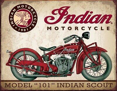 Tin Signs Indian Scout Motorcycle Metal Vintage Retro Poster Advertising Design
