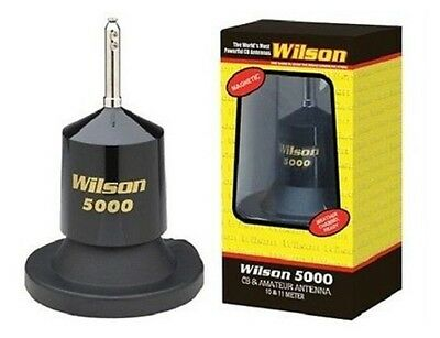 Wilson 5000 Hi Power Magnet, Mag Mount CB Radio Antenna NEW! With 62 5