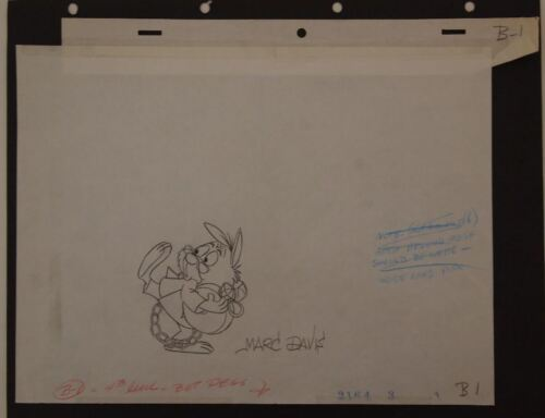 1979 Eastern Airlines Commercial Disney The White Rabbit SIGNED MARC DAVIS Art