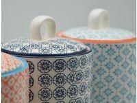 Porcelain Tea /Coffee /Sugar Canister
