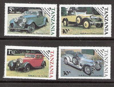 Tanzania 1985 Classic Cars Automobile Centenary Compete Set MNH (SC# 263-266)