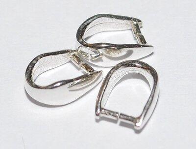 925 Silber Collierschlaufe - Schlaufe - Öse - Anhänger Verbinder - 10 x 6,7 mm