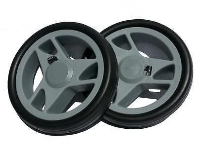2 Räder für Einkaufsroller / Einkaufstrolley Ø 150mm für Achs-Ø 10mm grau