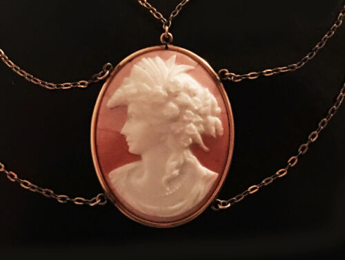 Victorian Festoon Cameo Left Facing-FREE SHIPPING
