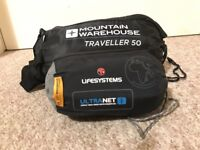 Mountain Warehouse Sleeping Bag & Lifesystems Micronet Mosquito Net