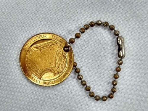 Vintage Boulder Dam souvenir advertising keychain coin Nevada Arizona