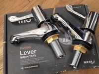 New Iflo classic Lever Basin Taps x 2 pairs
