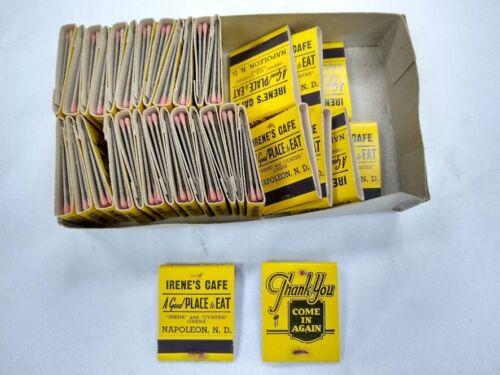 Lot of 34 IRENE'S CAFÉ Napoleon North Dakota unused matchbooks