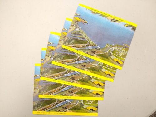 Lot of 5 - 1949 Garrison Dam North Dakota baby jumbo 3 cent unused postcards