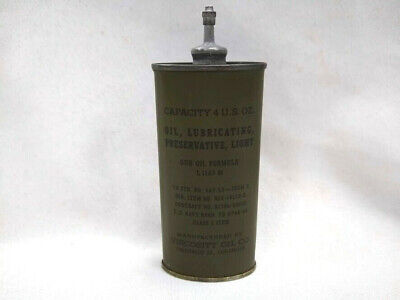 Vintage 4oz lead top military gun oil can oiler Viscosity Oil Co Chicago US Navy