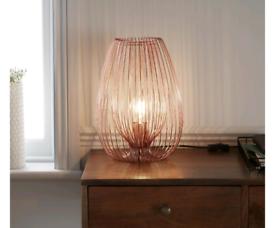 Copper effect table light