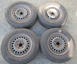 ****Four 195/70/R14 Goodyear Nordic Winter Tires with Studs****