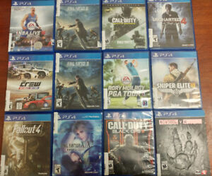 COME CHECK OUT OUR SELECTION OF GAMES FOR PS4 AND XBOX ONE!