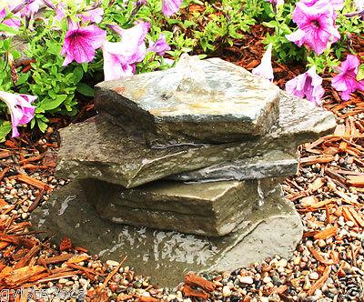 AquaRock Fountain Kit-Bluestone Flag Stone-landscape/water/garden/bubbling rock - Garden Stone Kit