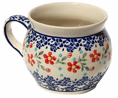 Polish Pottery Potbelly Coffee Mug 16 oz. from Zaklady Boleslawiec GU910/964 Polish Pottery Coffee Mug