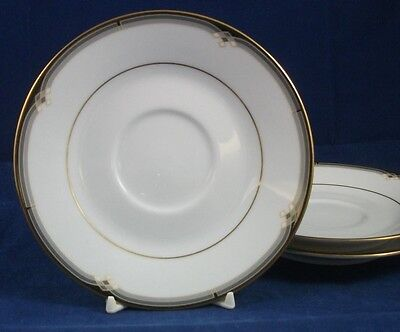 Noritake Oxford Lane 3 Saucers 4020 Great Condition