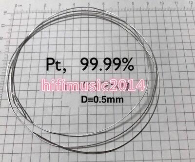 99.99 Pure Platinum Metal Wire Diameter 0.5mm Length 100mm