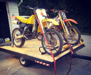 Dirtbike, motorcycle or quad trailer
