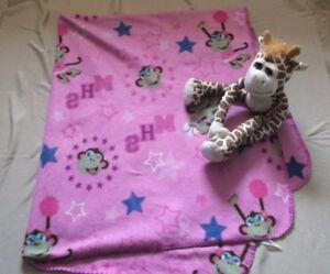 Monkey Throw Blanket + Monkey Friends Forever Frame