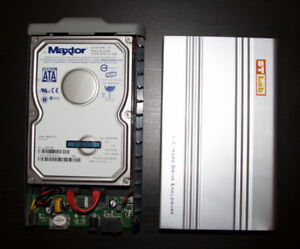 "E-Sata External 3.5"" HDD Case with Maxtor 200GB Disk w/ EU power"