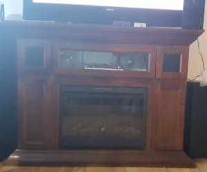 Meuble TV avec Foyer électrique