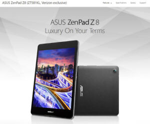 ASUS Zenpad Z8 - Brand New in Box - WiFi and Cellular LTE Tablet