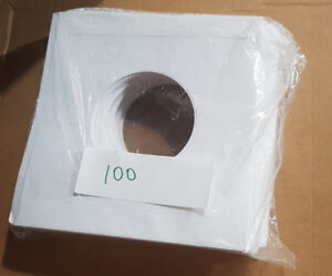PACKAGE OF 100 RECORD SLEEVES FOR 45RPM ACID FREE