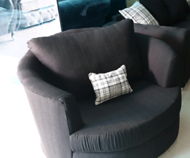 Black Fabric Swivel Armchair free local delivery