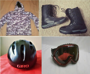 Best Offer - Snowboarding Jacket, Boots, Goggles & Helmet
